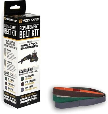 WORK SHARP Replacement BELT KIT For WSKTS Knife & Tool Sharpener 6 Total Belts!