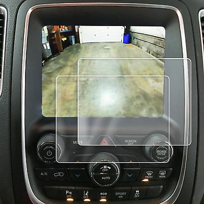 2 Dodge Durango 2014-18 Anti Scratch Touch Screen Saver Protector Clear 8.4 Inch