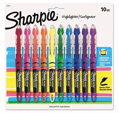 Sharpie 24415 Accent Liquid Pen Style Highlighter Chisel Tip Assorted 10ct NEW