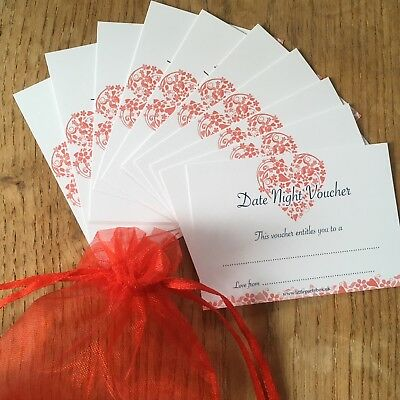 DATE NIGHT VOUCHERS Promise Cards-His Hers Partner Birthday Gift Stocking Filler