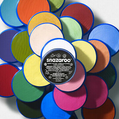 Snazaroo Facepaint 12 Classic Colours: Professional Stage Costume Make Up 18ml