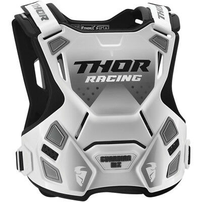Thor Guardian Mx Chest Protector White Body Armour Adult Md Lg Motocross Bmx Mtb