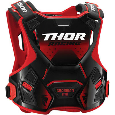 Thor Guardian Mx Red Black Body Armour Chest Protector Adult Md Lg Motocross Bmx