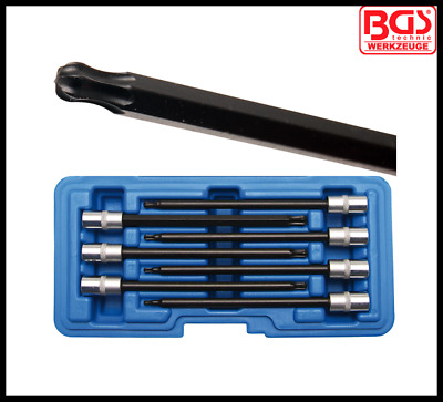 """BGS - Torx, T Star - Ball Ended Set, T10 - T40 130 mm Long 1/4"""" Dr - Pro - 8618"""
