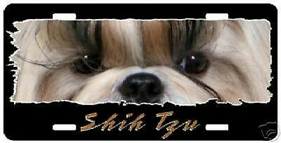 "Shih Tzu # 2   "" The Eyes Have It ""  License Plate"