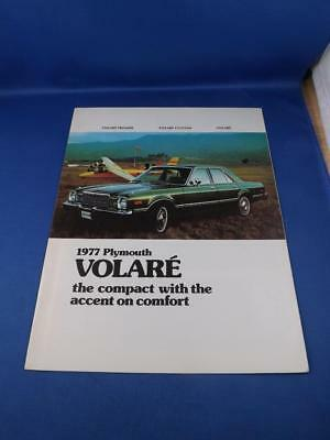 1977 Plymouth Volare Car  Sales Dealership Advertising Brochure Options