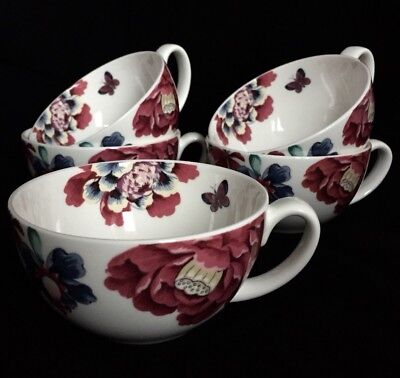 Set of 5 Floral Laura Ashley Teacups C183
