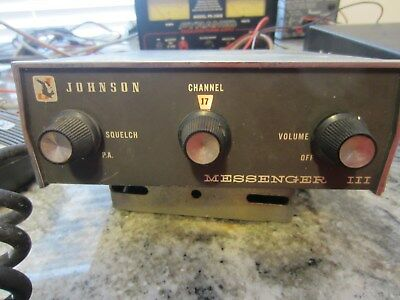 Johnson Messengr Iii Vintage Powers On, Check Photos.non Functioning For. Parts