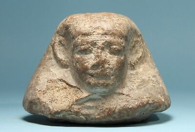 Egyptian Limestone Canopic Jar Lid: Imsety  - Ancient Art & Antiquities