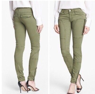 BLANK NYC Olive Green Women's Skinny Cargo Pants $108 Rf Blank NYC