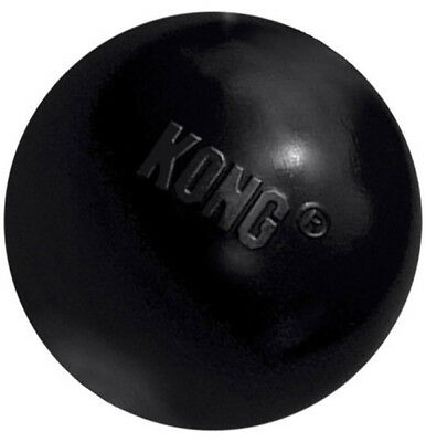 Kong Extreme Rubber Ball Dog Toy Ultra Durable Ruber Black Medium/Large - 1 Ball