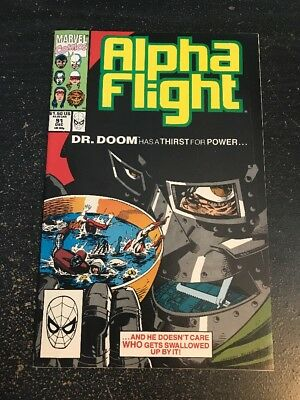 Alpha Flight#91 Incredible Condition 9.2(1990) Dr.Doom, Guice Cover!!