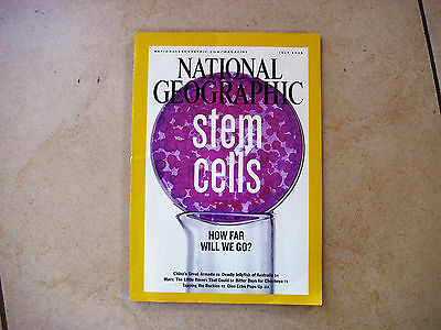 NATIONAL GEOGRAPHIC JULY 2005 Stem Cells issue, vgc
