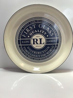 Ralph Lauren Serving tray rare vintage stainless painted 16""