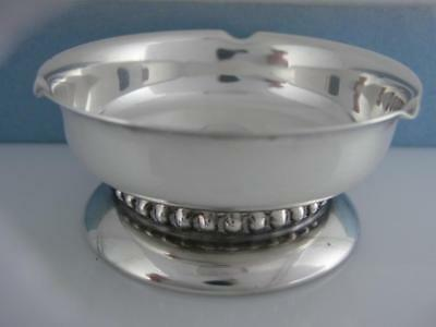 Sterling Silver CARTIER Footed Dish ~ Modernist Design ~ no mono