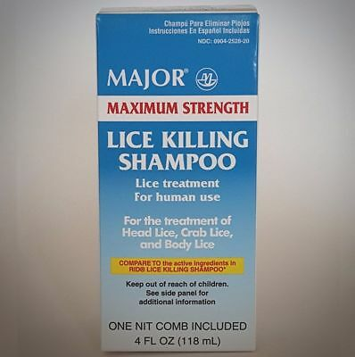 Major Maximum Strength Lice Killing Shampoo (4 fl. oz.)