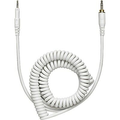 Audio-Technica HP-CC-WH Coiled Replacement Cable for M-Series Headphones - White