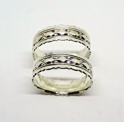 Pair of  Antique 800 Silver Napkin Rings