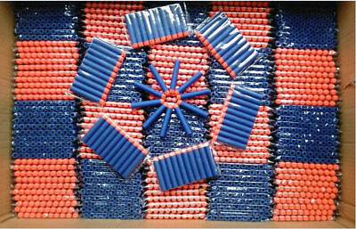 Wholesale Blue1000PC Kid Refill Toy Gun Bullet Darts Round Head Blaster For NERF