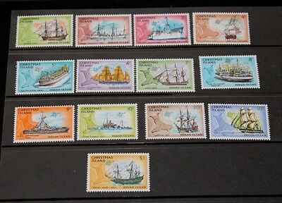Christmas Island 1972 Ships S/set Of 13 To $1.00 Very Fine  M/n/h