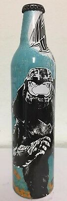 UNOPENED Halo 3 Mountain Dew GAME FUEL Bottle, MASTER CHIEF ILLUSTRATION