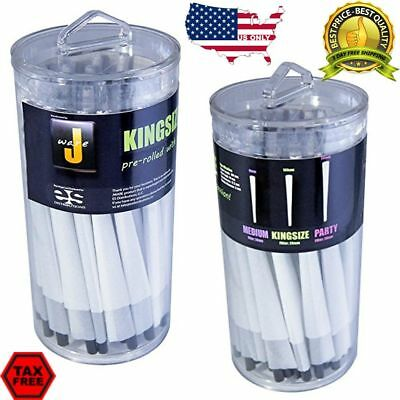 100 Pack Jware Pre Rolled King Size Cones Rolling Papers New Pre-Rolled Big Box