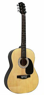 Graded Martin Smith W-100 Acoustic Guitar Natural Full Size Right Handed