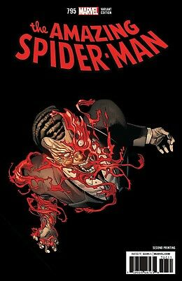 AMAZING SPIDER-MAN #795 2nd Print Variant Marvel Comics NM Presale 3/2018