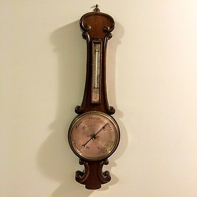 Barometer Antique circa 1890 Collingwood & Son Middlesborough Wood Not Working
