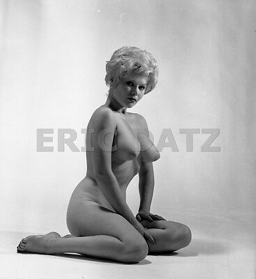 1960s Ron Vogel Negative, busty nude blonde pin-up girl Terry Higgins, t970413
