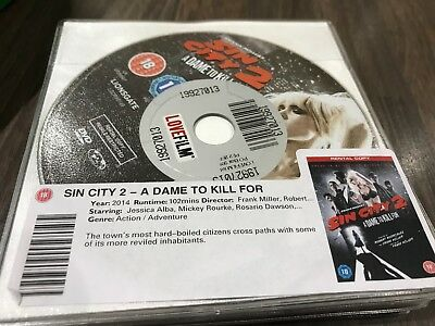 Sin City 2 A Dame To Kill For Dvd - Disk Only