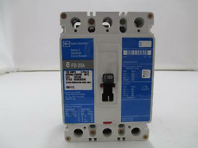 Cutler Hammer FD3100 100A 600VAC 250VDC 3 Pole Molded Case Circuit Breaker