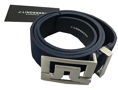 J Lindeberg JL Golf Slater 40 Brushed Leather Belt RRP£65 Navy W34 W36 W38