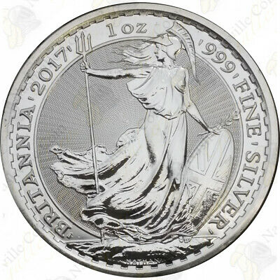 2017 Great Britain Silver Britannia - 1 oz - Uncirculated - SKU #67717