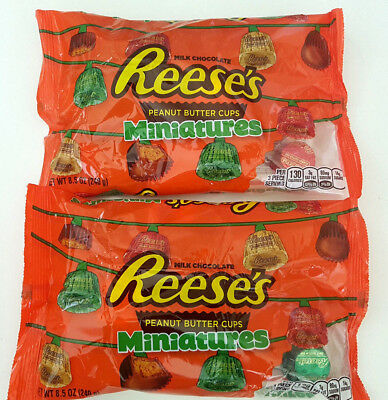 2 x Reese's Milk Chocolate Peanut Butter Cup Miniatures Bag - 240g