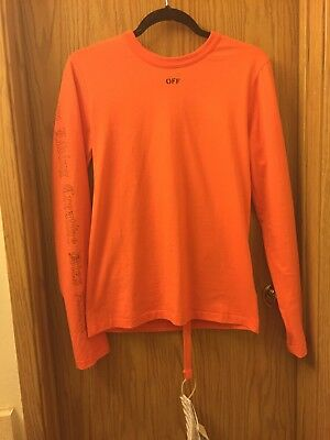 Off White X Vlone Virgil Abloh Every Living Creative Dies Alone Size Xs Orange