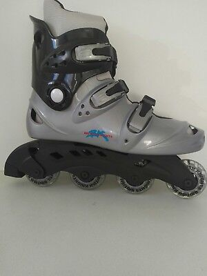 British Knight inline boots adult size 10.