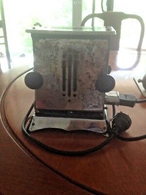 RARE Vintage Electric Dropside 2 slice chrome WORKING toaster 1950s with cord.