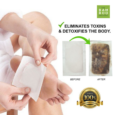 Body Feet Slimming Cleansing Detox Foot Patches Bamboo Vinegar Pads Remove Toxin