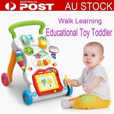 Baby Walker Toddler Play Toy Musical Activity Steps Learning Assistant  GUW