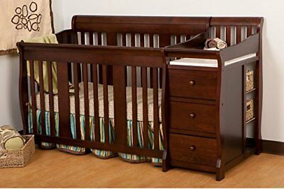 4-in-1 Fixed Side Convertible Crib and Changer, Espresso BRAND NEW BABY NURSERY