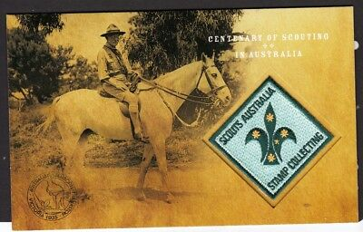 2008 Australia Post Office Pack Scouts/Scouting-MNH set of 3 stamps cloth badge