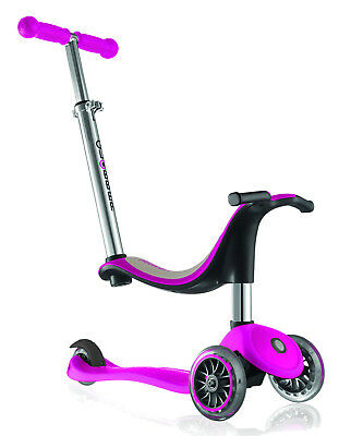 GLOBBER EVO 4-in-1 Adjustable SCOOTER Convertible TRIKE Pink *FREE SHIPPING*