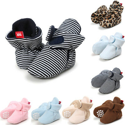 Newborn Infant Warm Boots Booties Baby Boy Girl Soft Sole Crib Shoes US Stock