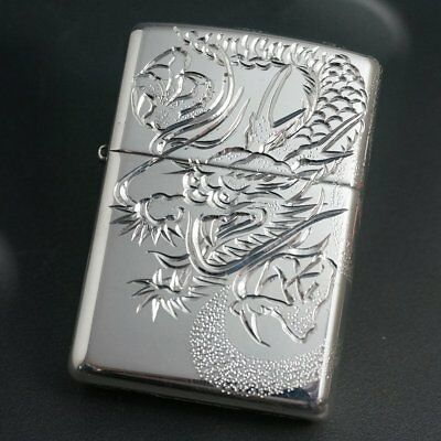 zippo (Zippo) Sterling Silver craftsmanship five-hand hand carved dragon # 26