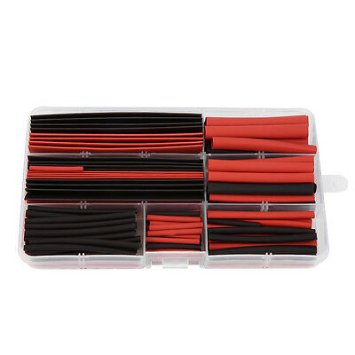 150pcs Heat Shrink Wire Tubing Electrical Connection Cable Sleeve Red Black 1WN