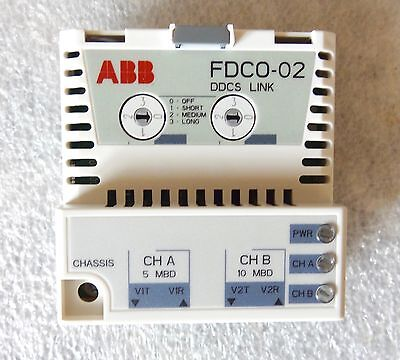 ABB FDCO-02 Fiber Optic adapter Module For ABB ACS Series Drives - New In Box