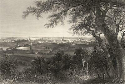MARYLAND: A view of the city of Baltimore (from Druid Hill Park) ; print 1874