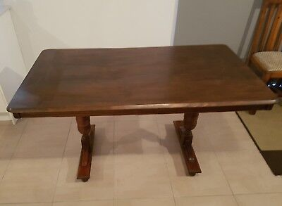 antique dining table timber