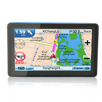 New 7 Inch Car GPS Navigation SAT NAV 8GB Navigator with Sunshade WN